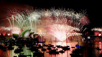 An estimated 1.6 million people lined the Sydney Harbour foreshore to witness the stunning display. (AAP)