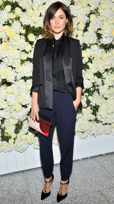 <p>To celebrate the debut of Victoria Beckham's Spring 2015 collection at Barney's, Byrne attends a private dinner at Freds in L.A. wearing head-to-toe Victoria Beckham. </p>