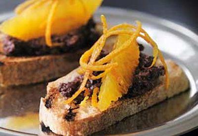 Snacks with orange