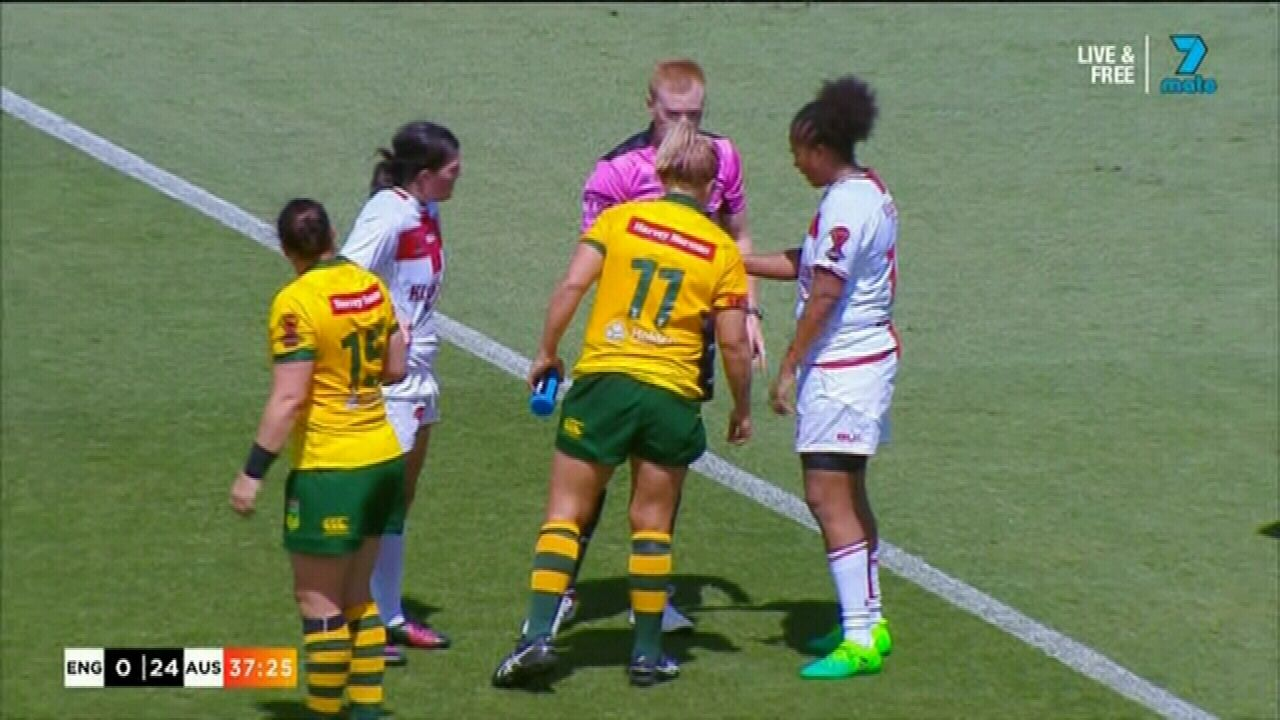 Jillaroo accused of biting in women's RLWC win