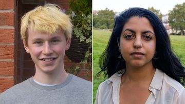 Alastair Fraser-Urquhart and Estefania Hidalgo are Covid-19 volunteers.