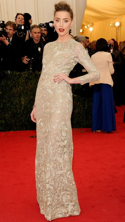 <p>In Giambattista Valli Couture at the 2014 Met Gala.</p>