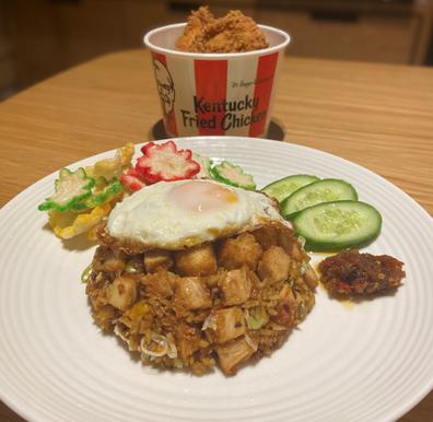 Dan Hong KFC Zinger nasi goreng