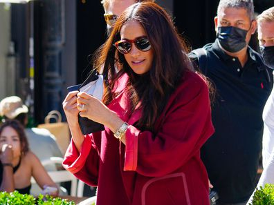 NEW YORK, NEW YORK - SEPTEMBER 24: Meghan, Duchess of Sussex and Prince Harry, Duke of Sussex are seen at Melba in Harlem on September 24, 2021 in New York City. (Photo by Gotham/GC Images)