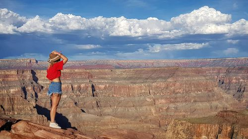 Ms Saul and the Grand Canyon.