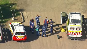 A man has been seriously injured at an industrial site in Smithfield.