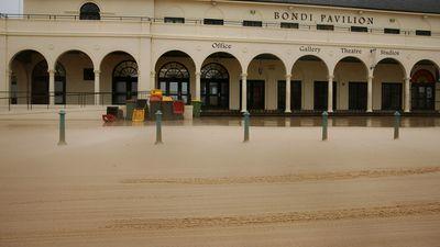 Sand-swept Bondi pavilion. (Getty)