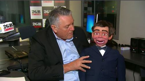 Hadley showed off his puppetry skills with his ventriloquist dummy. Picture: TODAY