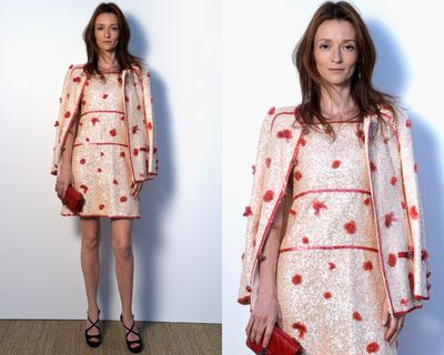 <p>Audrey Marnay's two-piece ensemble, which takes matching to chic new heights.</p>