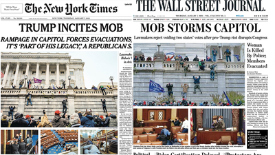 How the world's papers responded after Trump mob stormed Capitol