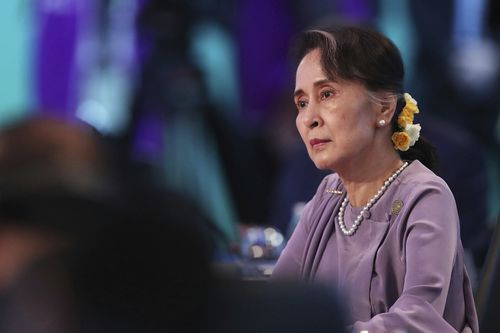 Today Myanmar's leader Aung San Suu Kyi reached out to Australia and her fellow ASEAN leaders for help in dealing with the Rohingya refugee crisis. (AAP)