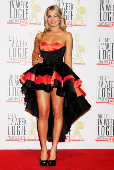 Margot Robbie at the 51st TV Week Logie Awards in Melbourne in May, 2009