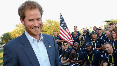 Prince Harry meets Team USA ahead of the Orlando Invictus Games, May 2016