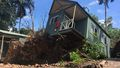 Holiday cabin lifted metres into the air by falling tree