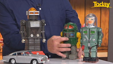 Early robot toys could fetch over $1000 at auction.