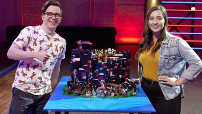LEGO Masters 2021 Episode 2 Castles and Cannonballs challenge Atlanta and Jeff