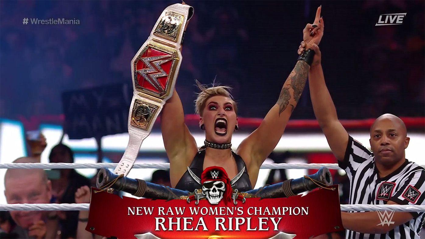 Rhea Ripley crowned Australia's first female WWE world champion