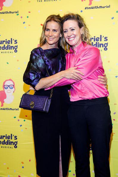 Rachel Griffiths and Roz Hammond attend Muriel's Wedding The Musical