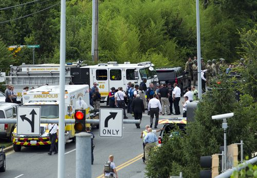 Police have confirmed five people have died in the shooting. Picture: AP