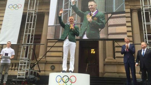 Jared Tallent awarded the gold medal for his 2012 Olympic win today. (Twitter/Christine Ahern)