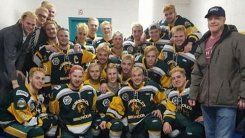 Fifteen people died when the hockey team bus crashed. (AP)