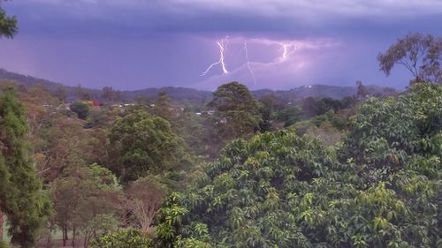 Lightning strikes viewed from The Gap. (Supplied, Coskun Gencerler)