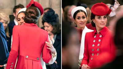 Meghan and Kate attend a Commonwealth Day service, March 2019