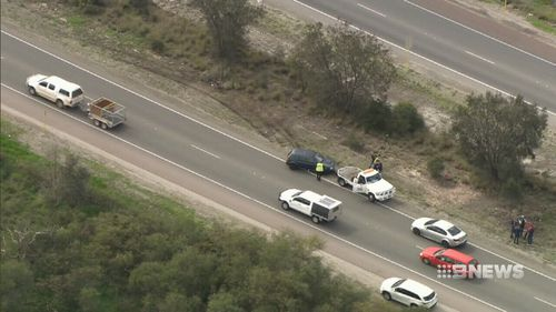 The car was travelling the wrong way down the Tonkin Highway.