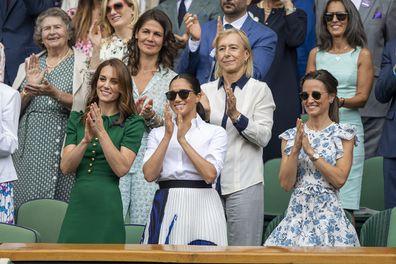 Kate, Meghan and Pippa at Wimbledon clapping