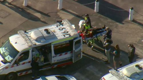 The pair has been taken to the Alfred Hospital. (9NEWS)