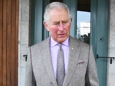Prince Charles Twitter video message to firefighters and bushfire victims.