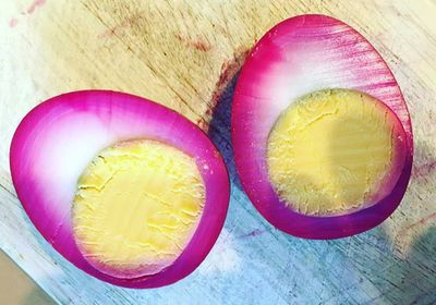 """<a href=""""http://kitchen.nine.com.au/2016/09/06/14/27/beet-pickling-and-curing-trend"""" target=""""_top"""">How to make beet-pickled eggs<br> </a>"""