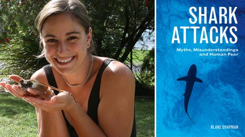 Marine biologist Blake Chapman grew up with a love for and fascination with the ocean, but her interest in sharks was piqued when an episode of Shark Week caught her attention. She is the author of Shark Attacks. (Supplied)