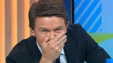 Moment Alex Cullen is left mortified on live television