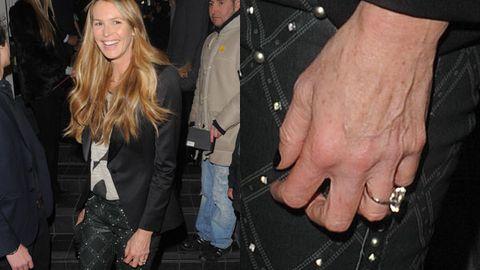Ring bling: Elle Macpherson rocks giant diamond engagement ring