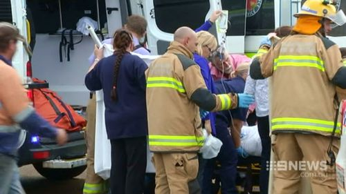 Twenty people were taken to hospital following the explosion. (9NEWS)