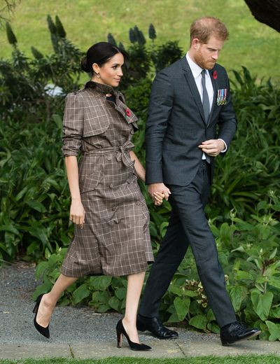 Meghan Markle on a walkabout in Pukeahu National War Memorial Park on October 28, 2018 in Wellington, New Zealand