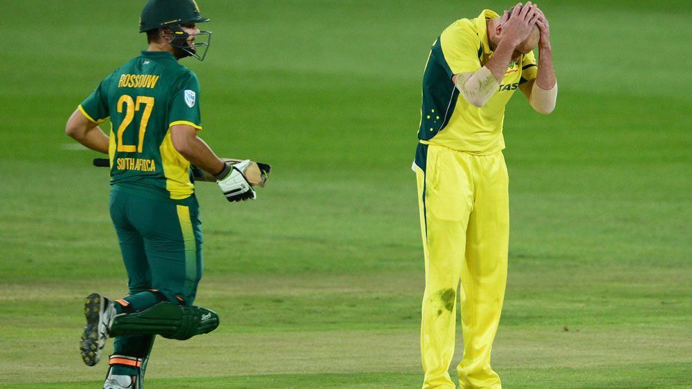 Australia's bowlers took a pounding in the first ODI at Centurion.(Getty)