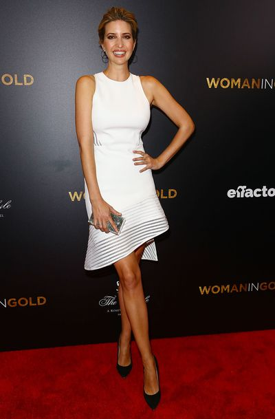Ivanka Trump in Dior at the <em>Woman In Gold</em> New York Premiere in March, 2015