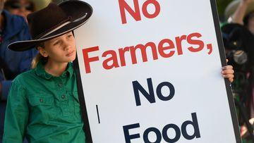 No Farmers, No Food. (AAP)
