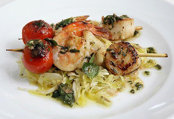 Stefano Manfredi's grilled seafood spiedini