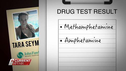 Ms Seymour failed an earlier drug test as well.