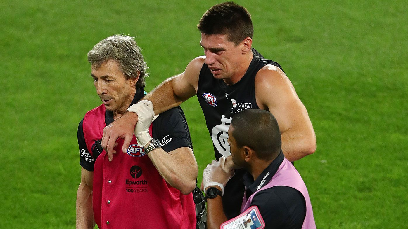 Kreuzer injured as Carlton cop season opener loss to Richmond at quiet MCG