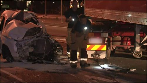 A p-plater has died in a head-on crash with a truck in Aspley, north of Brisbane.