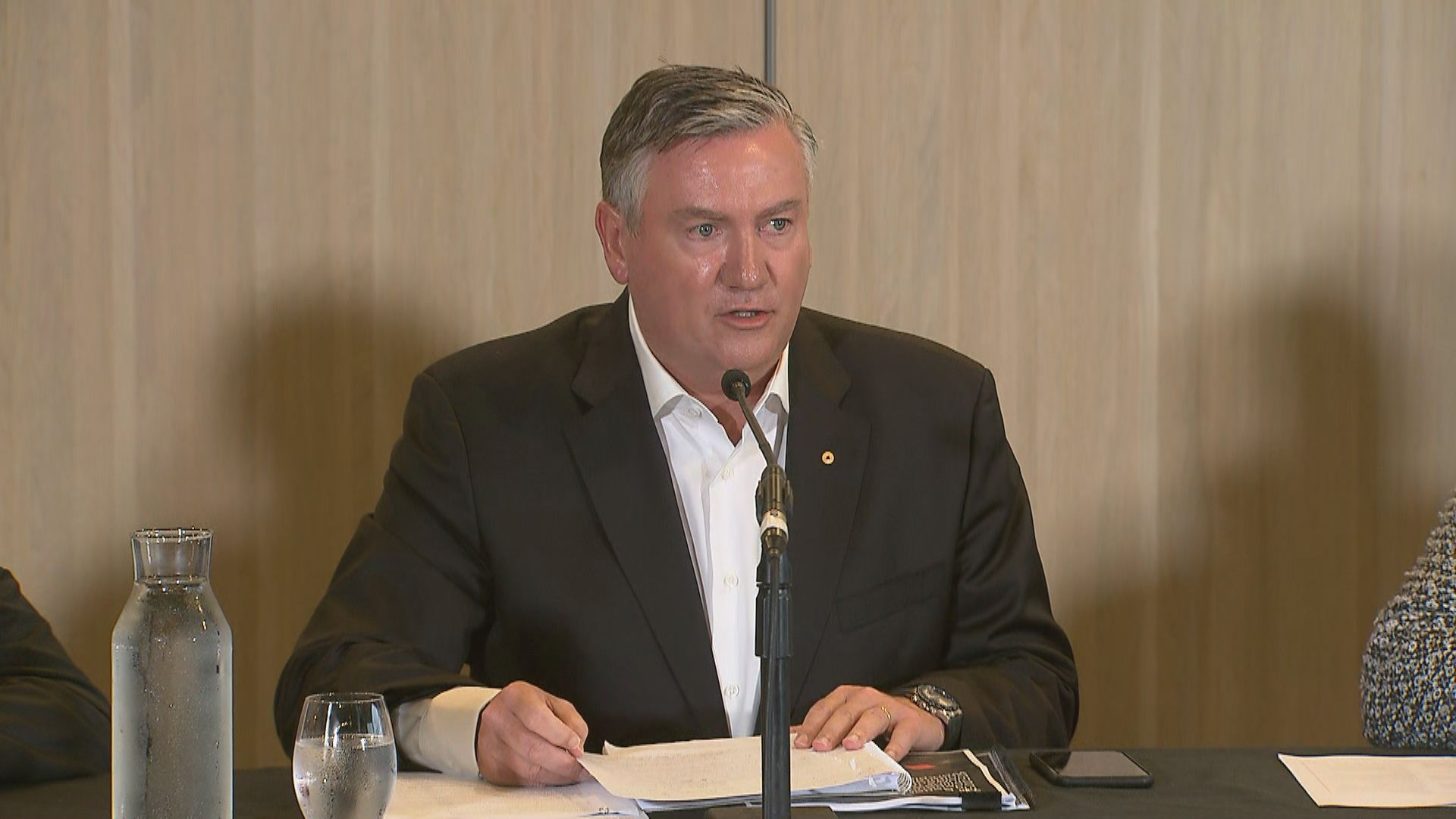 Eddie McGuire won't step down early despite scathing report into Collingwood's culture