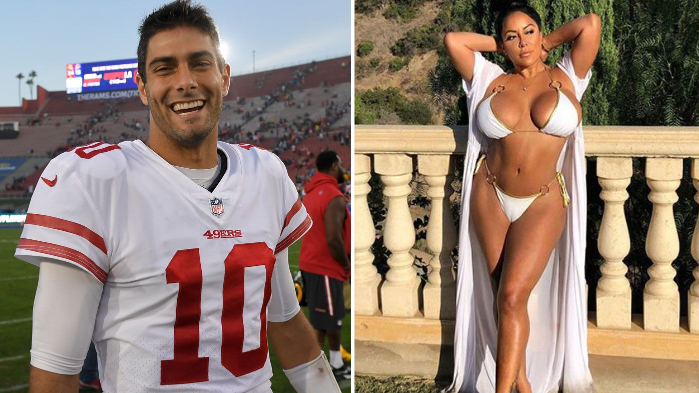 NFL: San Francisco 49ers star Jimmy Garropolo opens up on highly scrutinised date with porn star Kiara Mia