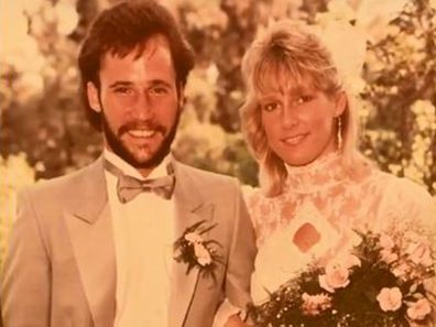 Wedding portrait of Pat Trenkle and husband Chris from 35 years ago.