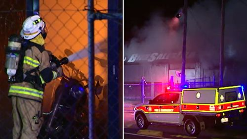 Firefighters spent much of the night battling the blaze. (9NEWS)