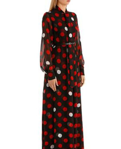 """McQ by Alexander McQueen pussy-bow maxi dress, $534 at<a href=""""http://www.myer.com.au/shop/mystore/dresses/pussy-bow-maxi-dress-414339310"""" target=""""_blank""""> Myer.com.au<br /> </a>"""