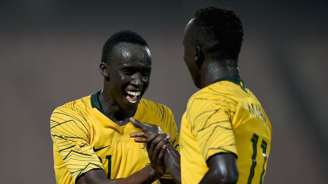 Boyhood mates' incredible journey from refugee camp to Socceroos debuts